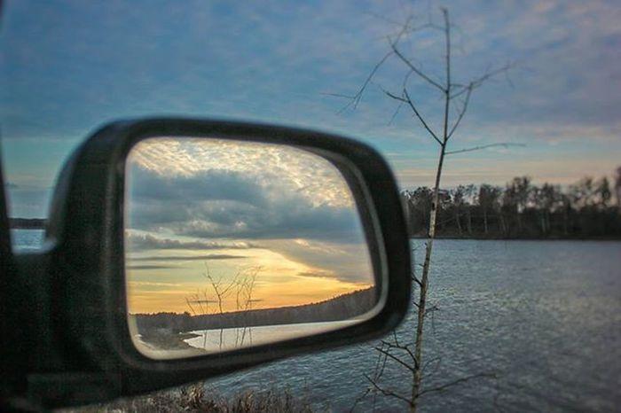 беларусь Природа весна Дорога небо фото март Машина Belarus Nature Road Sky Spring Photo Follow Car Lusienka_pilets Canon Dawn Закат отражение