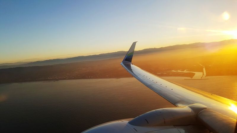 Space traveling On The Way From An Airplane Window From My Point Of View LAX Los Angeles, California Airplane AirPlane ✈ Taking Off Sunrise Sunrise_sunsets_aroundworld Sunrise_Collection Travel Photography California