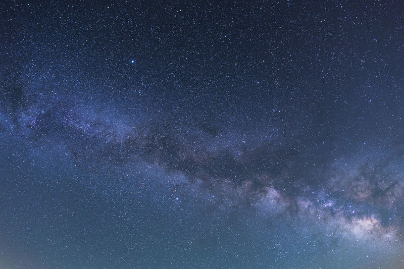 Low angle view of milky way in sky at night