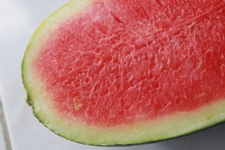 Close-up of halved watermelon