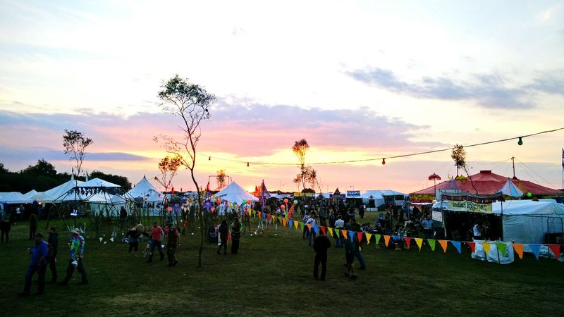 Festival Sunset Bunting Tents