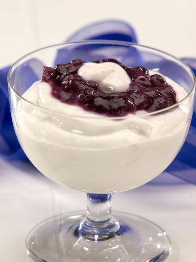 Cream Dessert With Jam