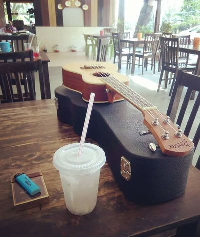. woody oh woody . Restaurant Wood - Material Furnitures Ukulele Ukelife Refreshment Cigarette  Kretek Keroncong Rural Scene