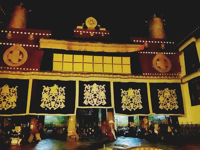 拉萨 大昭寺 夜晚