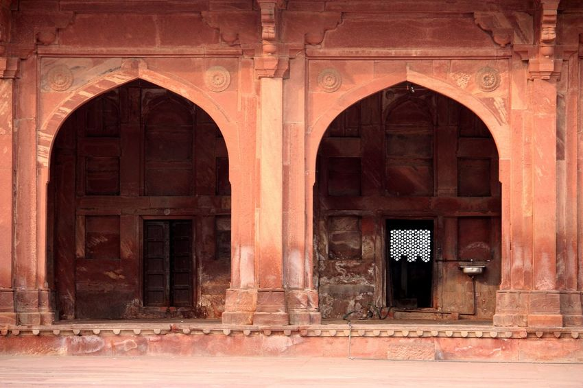 Arch Architecture Building Exterior Built Structure Day Door Entrance Façade Fatehpur Sikri Historical Building Historical Sights India Mughalarchitecture MughalStyle UttarPradesh