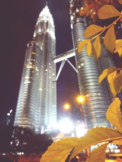 Malaysia Night Travel Destinations Architecture City Tower Building Exterior No People MALAYSIA KUALA LUMPUR Focus Objects Focus_graphy Twin Towers Tree Olive Tree