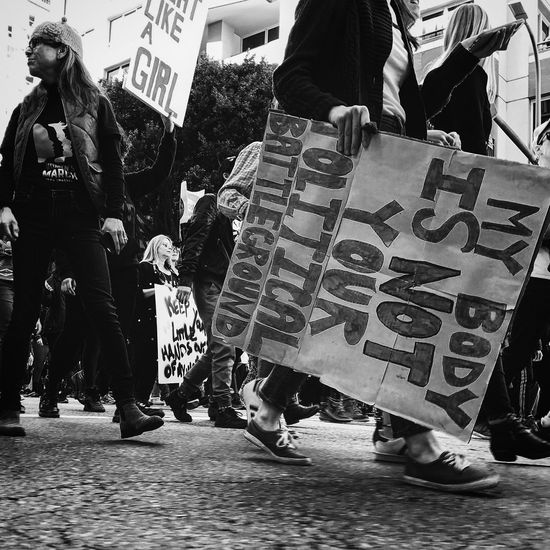 Protest Social Issues Politics Crowd City People Adults Only Charity And Relief Work Outdoors Adult Day women marching Real People Street Ross Farrell Photography Rossfarrellphotography Ross Farrell Design Black & White Close-up Equality Equality For All Equal Rights  women Women Who Inspire You