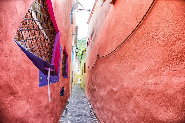 Alley Architecture Building Exterior Built Structure City Day Direction Footpath Mode Of Transportation Narrow Nature Nautical Vessel No People Outdoors The Way Forward Transportation Wall Wall - Building Feature Water