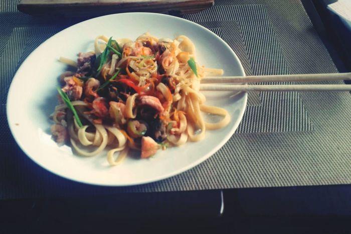 Вкуснейшая лапша с морепродуктами Food Photography Food Delicious ♡ Restaurant Еда вкуснотища😋😋 ресторан