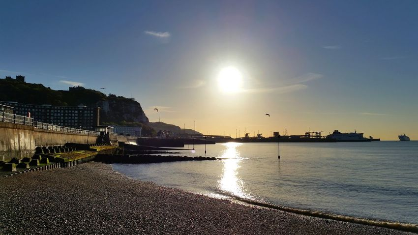 Sunrise over the Port of Dover... Sunrise - Dawn Dover, England Port Of Dover Sea Nature No People Sunlight And Shadow