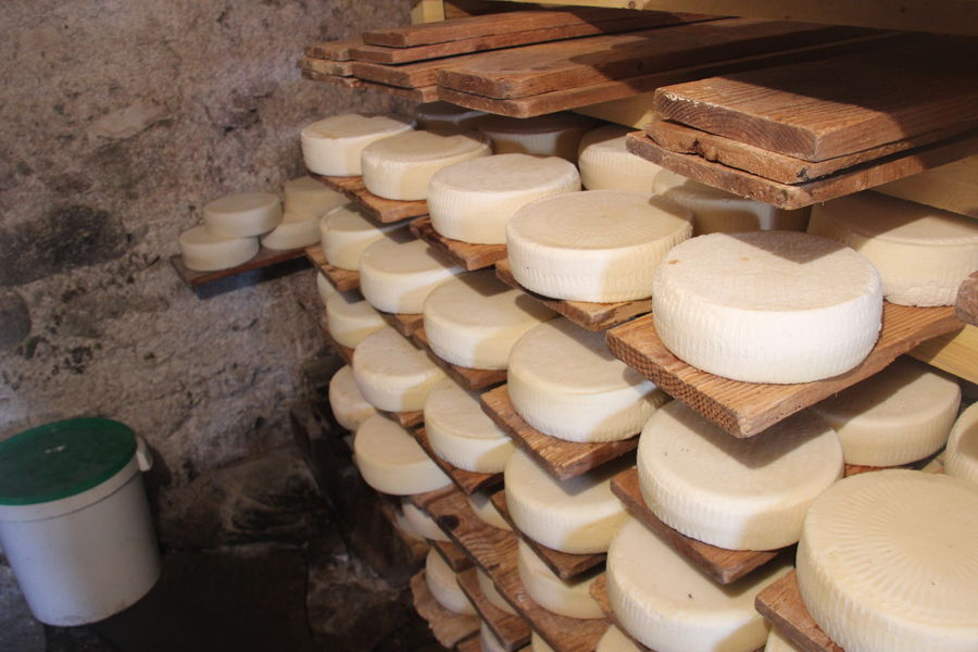 Cheese Cheese Factory Food French Alps High Angle View White