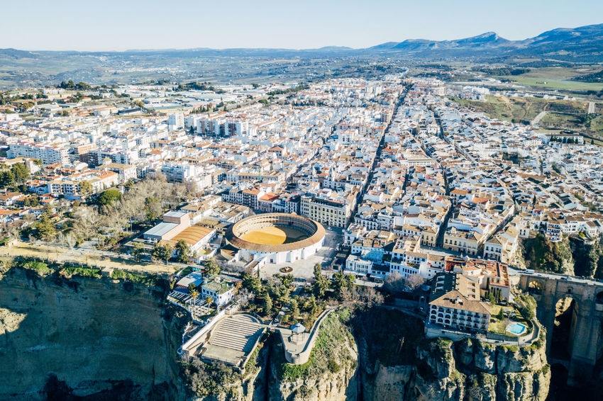 Andalucía City DJI X Eyeem Ronda Ronda Bridge Aerial View Architecture Bridge Building Exterior Built Structure City Cityscape Day High Angle View Nature No People Outdoors Sky Tree