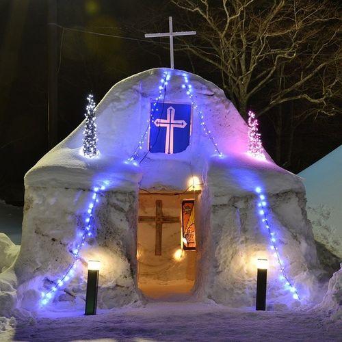 十和田湖冬物語 風景 教会