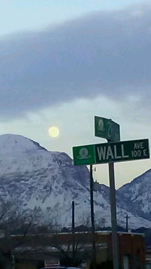 Moon Selenophilia Mountains Wasatch Front Wall Avenue Ogden Utah Weber County Dusk Moonrise Neighborhood Map