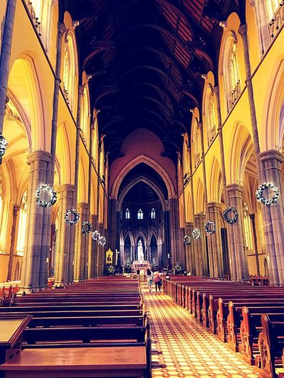 St Patricks Cathedral Cathedral Australia Melbourne Church Architecture St Patricks Cathedral Pew Place Of Worship No People
