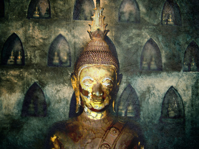 ASIA Asian Culture Buddha Buddhist LAO Vientiane, Laos Ancient Antique Architecture Buddha Statue Buddhism Buddhist Temple Close-up Day History Human Representation Indoors  Laos No People Place Of Worship Religion Sculpture Spirituality Statue Temple