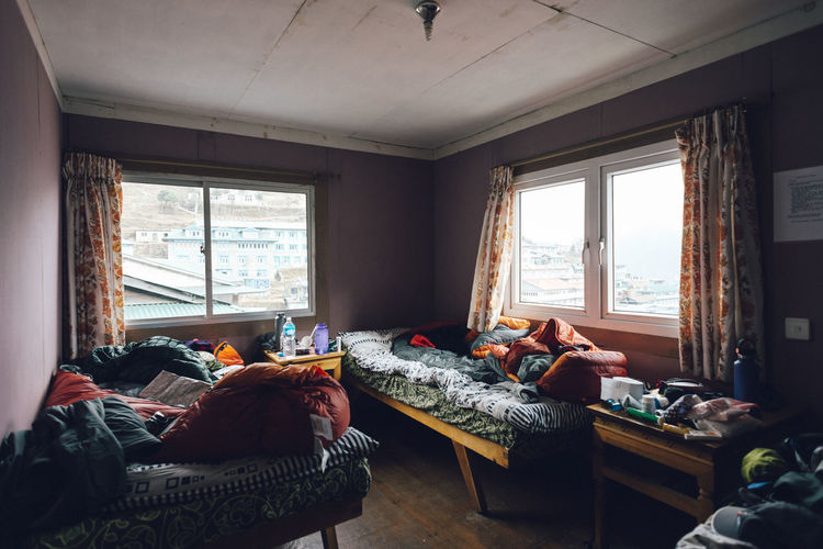 EBC Trek 2018 The Week on EyeEm Trekking Absence Bed Bedroom Comfortable Cozy Curtain Cushion Day Domestic Room Furniture Gear Home Interior Home Showcase Interior Indoors  Living Room No People Pillow Relaxation Table Tea House Window