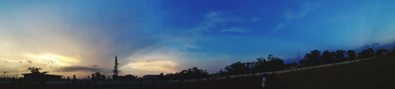 sky blue sunset