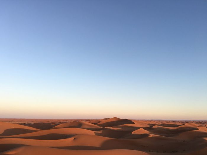 Sky Scenics - Nature Landscape Beauty In Nature Tranquility Tranquil Scene Desert Copy Space Clear Sky Non-urban Scene Environment Arid Climate Land Climate Nature Sand Sand Dune Remote No People Physical Geography Outdoors