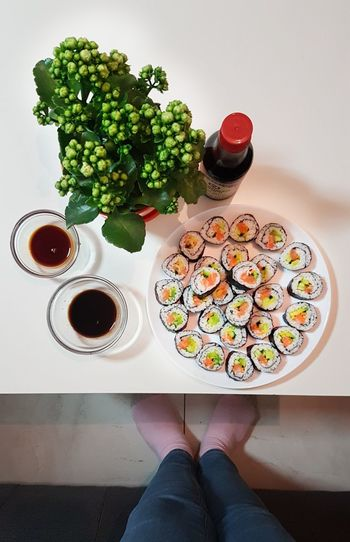 I like my sushi -fresh! Food And Drink One Person Indoors  One Woman Only Adults Only Food Only Women Healthy Eating People Adult Indulgence Human Body Part Healthy Lifestyle Ready-to-eat Women Plate Low Section Lifestyles Sweet Food Freshness Sushi Sushi Time Homemade Food Homemade