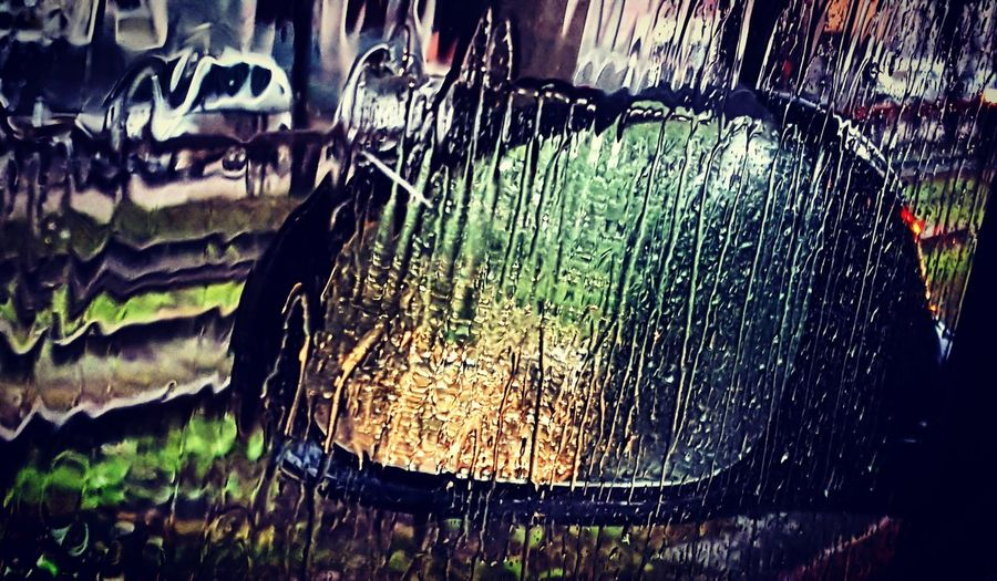 Rear View Rearview Mirror Rearview Mirrow Taking Photos Taking Photos Thinking City Life June Rainy RainyDays Raining Day Drops Of Water Car