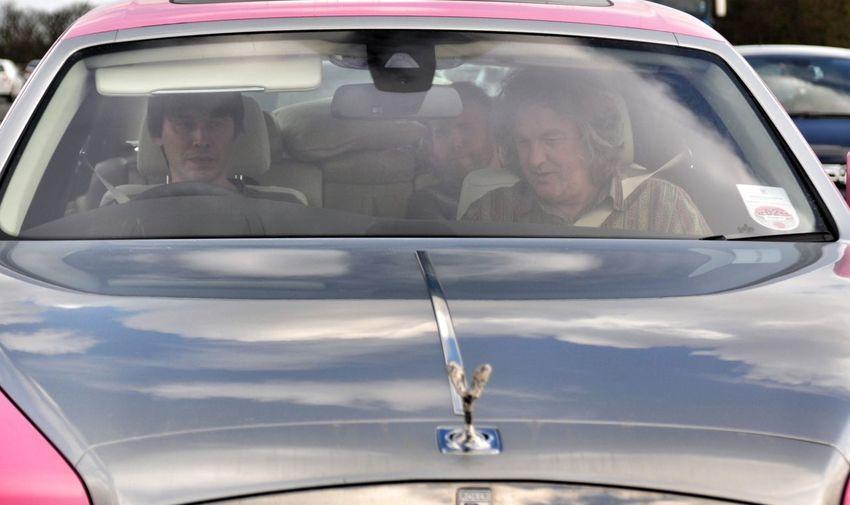 Brian Cox James May Land Vehicle Pink Rolls Royce Rolsroyce Transportation Vehicle Part Windshield