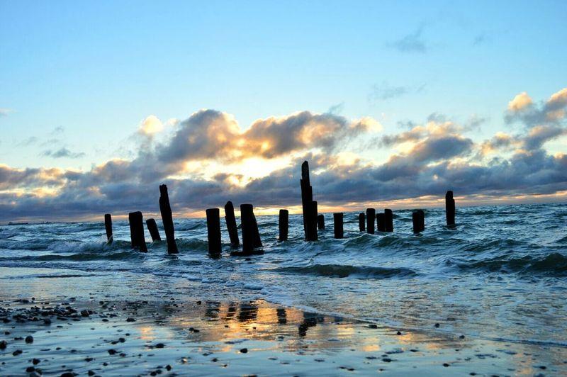 Autumn sunsets🌅 Sunset Nature Seaside Sea And Sky Beach Photography