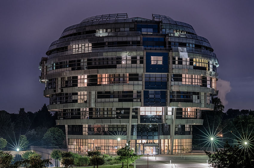 Brainstorm No People Outdoors Germany Hannover INI Illuminated HDR Architecture Architecture_collection Cityscape City Life Europe City Center Multi Colored Sunset Long Exposure Urban Exploration Mood Night Photography Travel Destinations Hanover Urban Geometry Urban Photography Long Exposure Shot Medical School