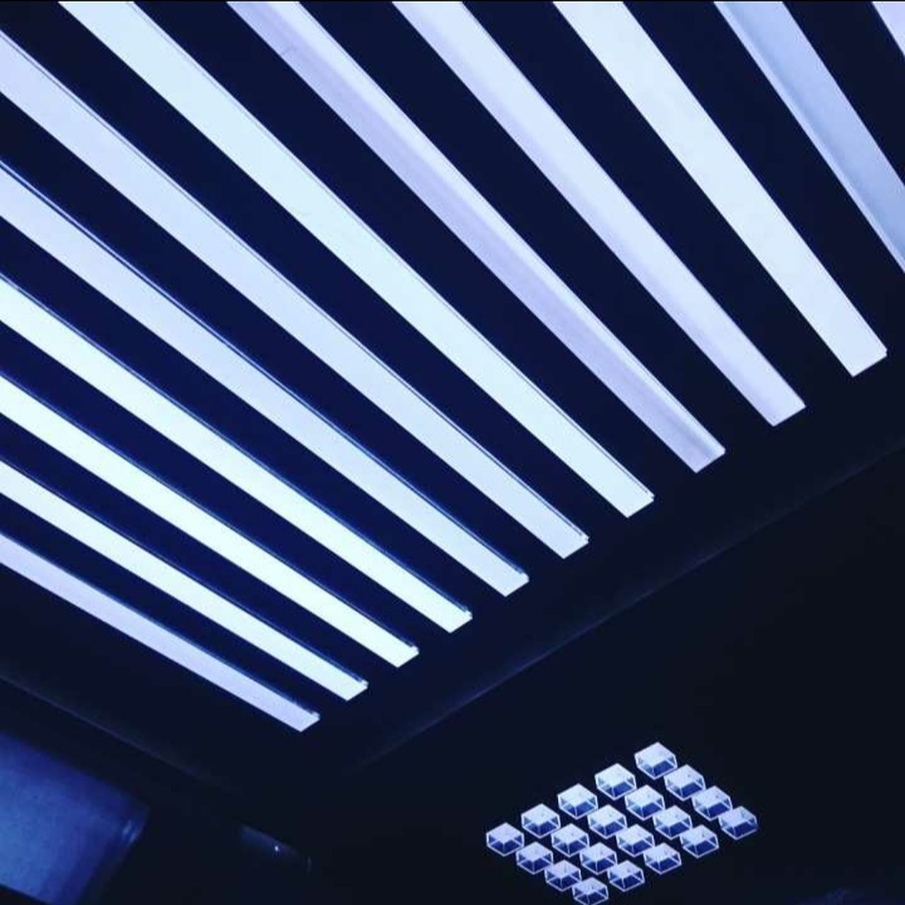 striped, indoors, pattern, technology, no people, day, architecture, close-up