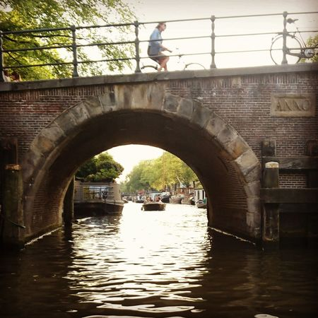 People And Places. People And Places Amsterdam Canals Bycicle Boat