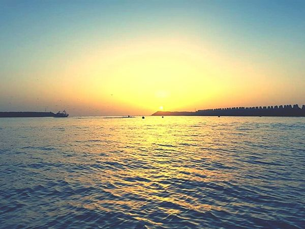 Sunset Sea Reflection No People Keepcalm In The Road To Back Home Holidays💛 Beach Photography Sunset_collection Hard Pic...... Taking Photos Mining Heritage Check This Out Endofweekend Sunny Side Of Life Wonderful Place in the end of the day in the beautiful little city in Morocco