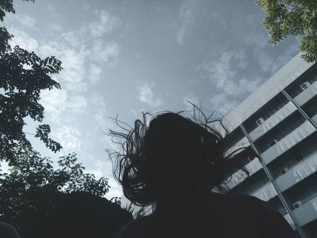 Silhouette Low Angle View Cloud - Sky Adult People Adults Only Sky Tree One Woman Only Outdoors Only Women One Young Woman Only Day One Person Nature Young Adult Medusa Head