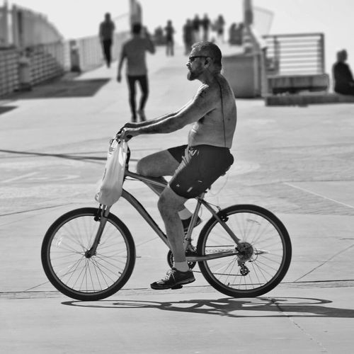 Early Retirement... Bike Beach Bnw Dof Blackandwhite Mix Yourself A Good Time