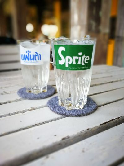 Antique Drink Drinking Glass Fanta Sprite Sprite ♥♥ สไปร์ท แฟนต้า