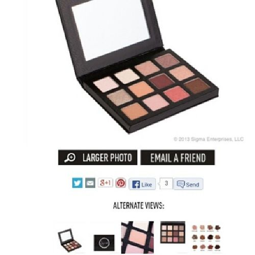 I want it so much ! Eyeshadow Palette Warmneutrals Enlighcollection sigma makeup new