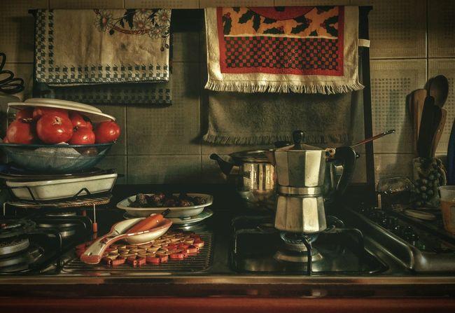 Day EyeEm Selects Time No People Coffee ☕ Pentole Pomodori Ciboitaliano Cucinaitaliana