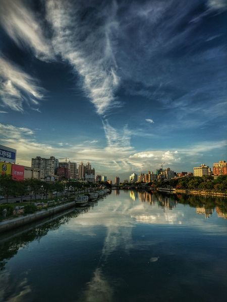 Good Morning Hello World Loveriver Cityscapes Taking Photos Relaxing Kaohsiung Taiwan City Life The View And The Spirit Of Taiwan 台灣景 台灣情