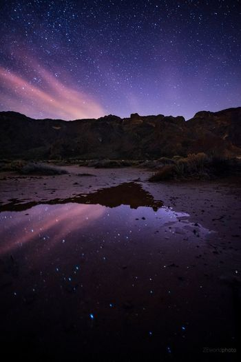 Stars and reflection Landscape Colors EyeEm Best Shots Sky EyeEmNewHere EyeEm Nature Lover Eye4photography  Nature Reflection Tranquility Cloud - Sky Silhouette Nikon Photography Adventure Canary Islands EyeEm Gallery Stars Travel Destinations Night The Great Outdoors - 2018 EyeEm Awards