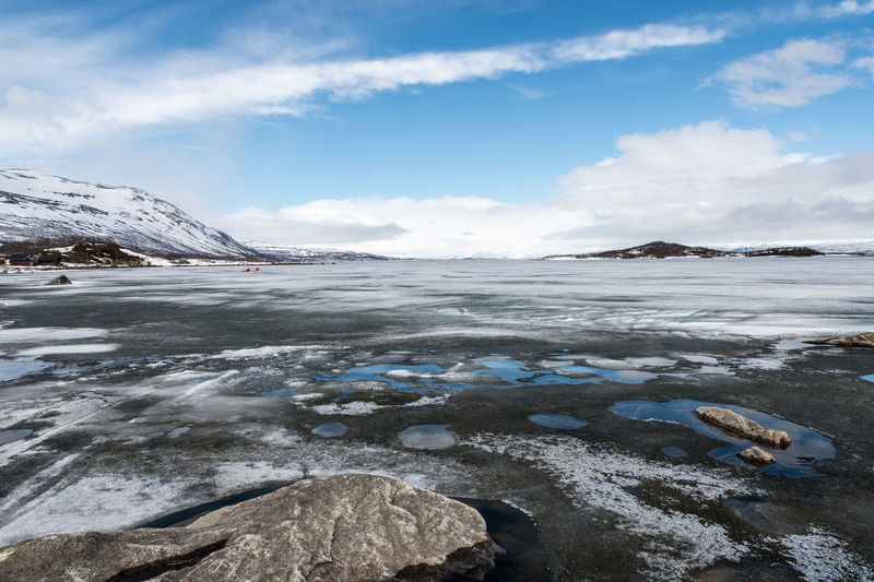 Frozen panorama Abisko Beauty In Nature Cloud - Sky Cold Temperature Day Flat Frozen Glacier Ice Iceberg Landscape Mountain Nature No People Outdoors Scenics Sky Snow Snowcapped Mountain Sweden Tranquil Scene Tranquility Water Weather Winter