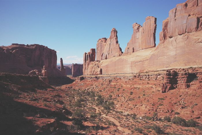 """""""You call this archaeology? """" The scenery in Utah reminds me of so many great films I have seen. You might recall this one, from the opening title of Indiana Jones and the Last Crusade. Much of the prologue was filmed in Arches National Park. Moab, Utah. RoadTripxUSA Arches Utah"""