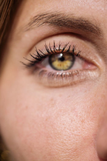 Close up of a woman eye of rare color