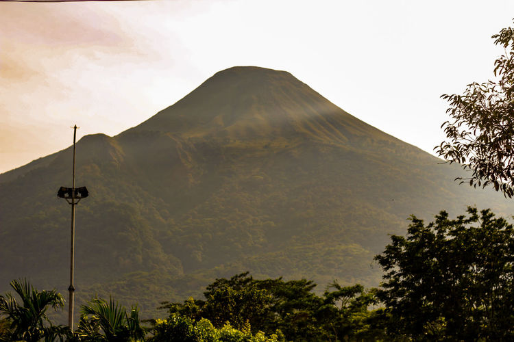 Penanggungan Mountain Tree Mountain Sky Landscape Cloud - Sky Volcanic Crater Volcanic Activity Rocky Mountains Ash Releasing Volcanic Landscape Volcano Erupting Active Volcano Volcanic Rock East Java Province Lava Geology