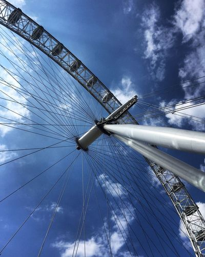 London Eye Summer United Kingdom London Eye London Sky Blue Day Cloud - Sky No People
