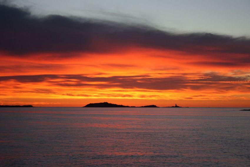 AIDA - Dreamer Aidacruises Aida Sunset Orange Color Scenics Beauty In Nature Nature Sky Sea