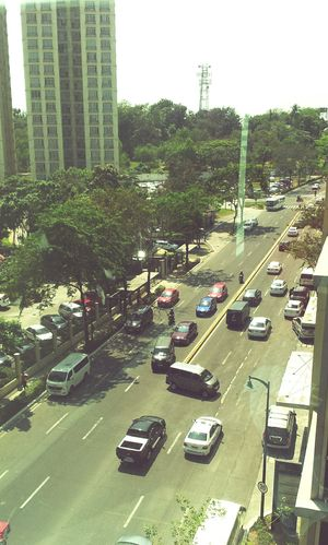 Just another busy workday City Car High Angle View City Street City Life Outdoors Cityscape Transportation Officeview McKinley Hill Taguig City Philippines