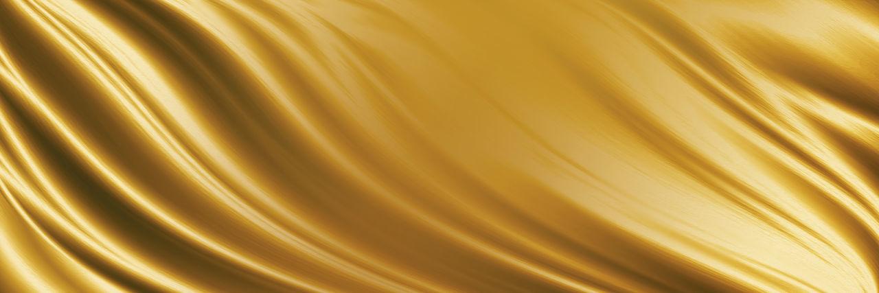 Full frame shot of yellow metal