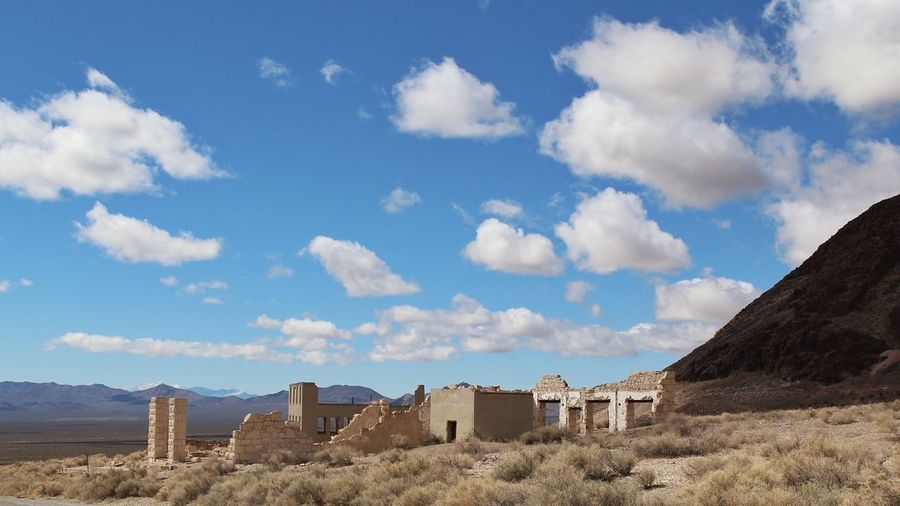 Ghost Town Tadaa Community Nevada Desert Ghost Town Cloud - Sky Sky Day Sand Outdoors Sunlight Nature Architecture No People Building Exterior Desert