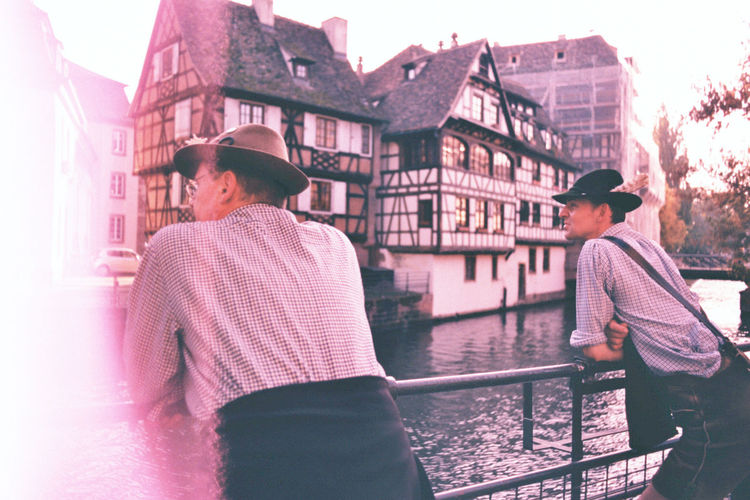 Film German Lederhosen Light Leak Photography Pink River Traditional Clothing