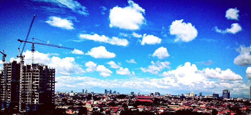 Cloudy Day Cloudy Skies Clouds Sky Blue Sky Cityscape City Skyline Jakarta Cityscape