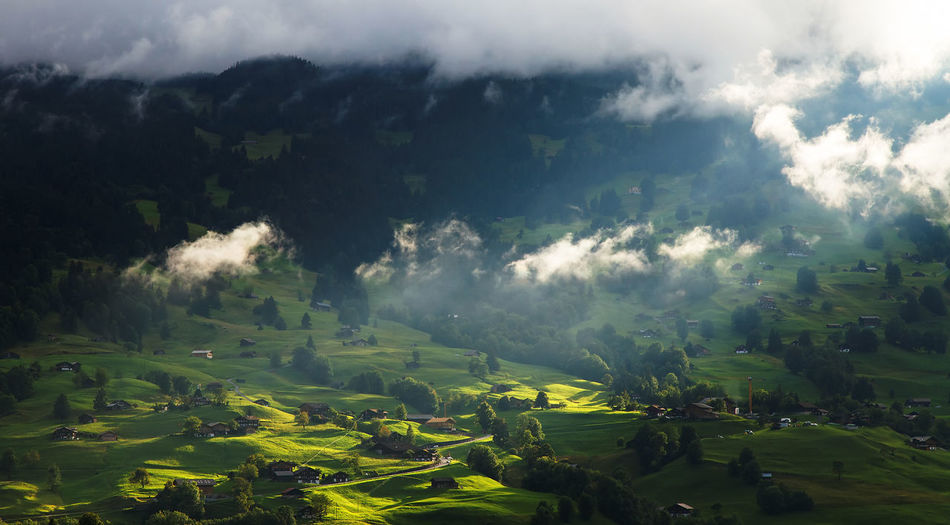 Scenic view of mountain landscape